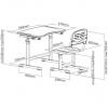 Комплект растущей детской мебели (стол + стул) FunDesk Piccolino II